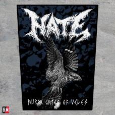 Нашивка на спину - Hate - The Bird